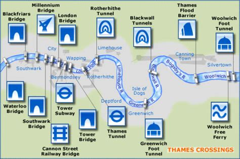 thames river ferry map thames crossings bridges ferries and tunnels the