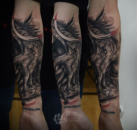 lovecraft tattoo cthulhu tattoos eduardo fernandes