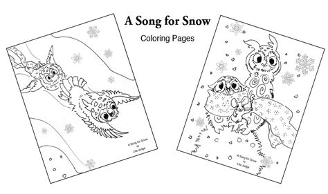 a song for snow hoot and peep books connect the dots coloring page activities