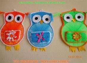 tejido crochet y artesanas lechuzas tejidas buho porta fosforo de cds reciclados y tejido a crochet