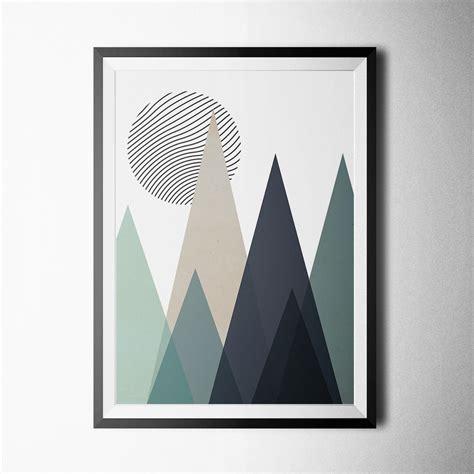 poster skandinavisch scandinavian triangle mountains ii poster print on luulla