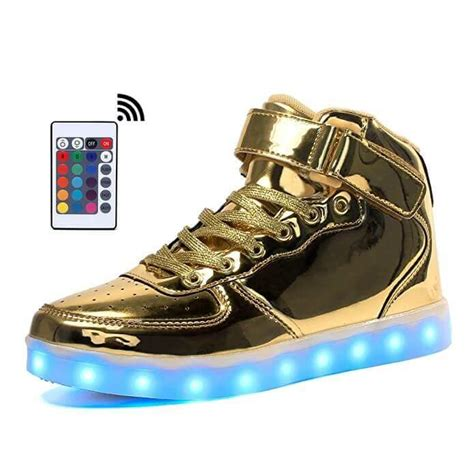 light up shoes with remote led shoes high top gold remote