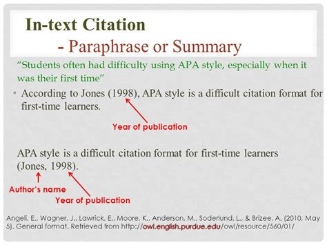 apa format citation in text apa created by sally ren esl instructor ppt download