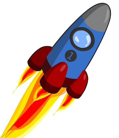 Raket Java clipart animation of rocket blue and