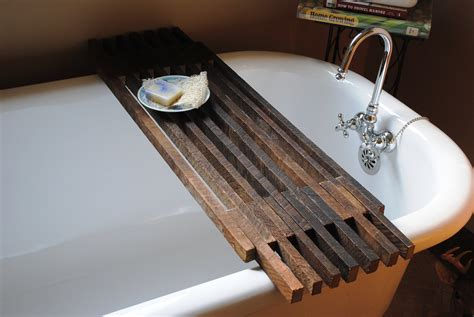 bathtub caddy shelf by peppysis on etsy