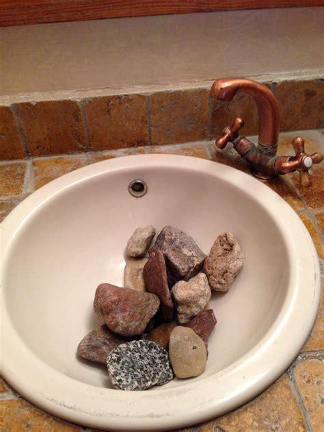 river rocks in bathroom sink rocks in guest bathroom sink home architecture garden