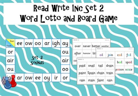 Gamis Set 2 phonics read write inc set 2 word lotto and board