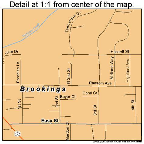 map of brookings oregon brookings oregon map 4108650