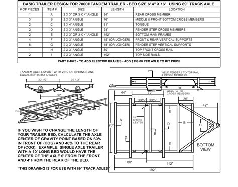 Build Your Own Utility Trailer With Chion Trailers Building Plans For Utility Trailers