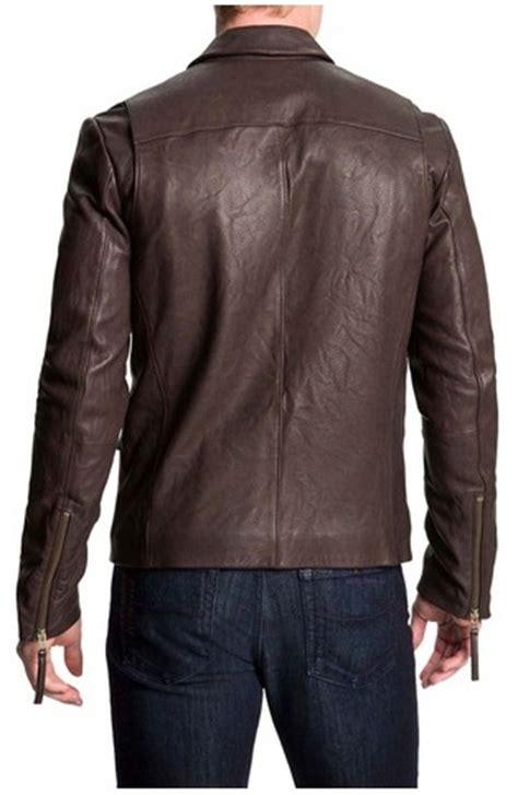 Handmade Leather Motorcycle Jackets - handmade mens biker leather jacket mens brown color
