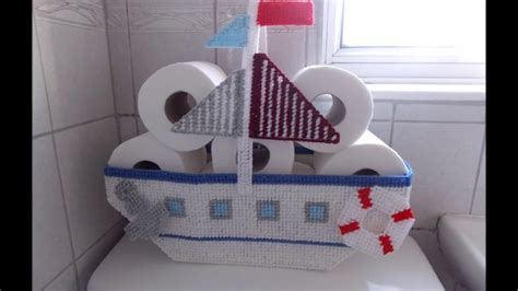 how to make a boat out of toilet paper roll how to make plastic canvas boat toilet roll basket youtube