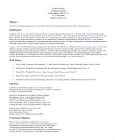 therapist resume sle therapist resume 7 exles in pdf
