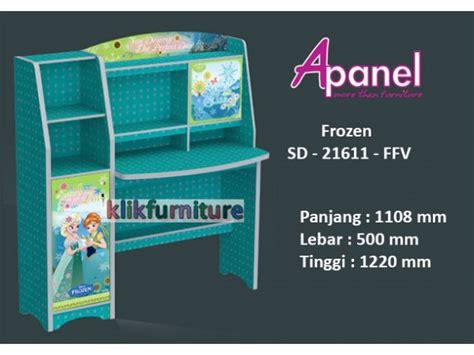 Meja Belajar Motif Frozen Harga Meja Belajar Sd 21611 Ffv Frozen Apanel Promosi Diskon