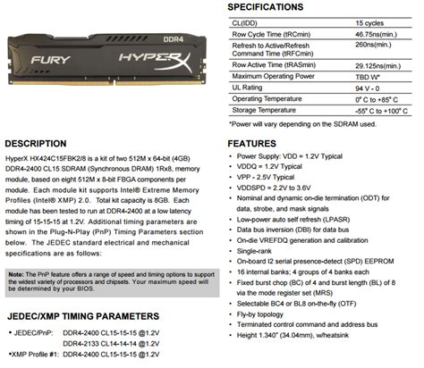 Kingston Hyperx Fury Ddr4 2400 8gb Hx424c15fbk2 8 Black1 kingston hyper x fury 8gb 2 x 4gb 2400mhz ddr4 desktop