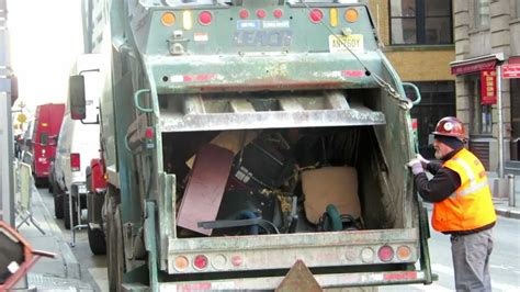 What Is A Trash Compactor Rear Loading New York Garbage Truck Tossing Nice Trash