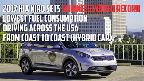 Set Kia kia niro sets arbitrary guinness world record for fuel mileage and nobody cares auto