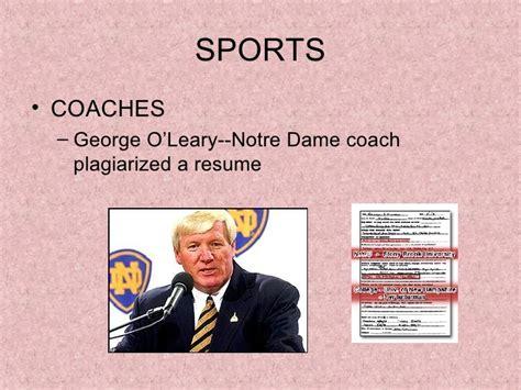 george o leary resume resume ideas