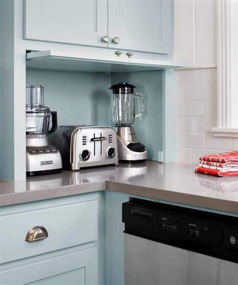 Kitchen Cabinet Appliance Garage by Kitchen Gets A Fresh Slant For An Open Cook Space