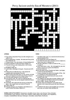 Percy Jackson and the Sea of Monsters Movie - Crossword