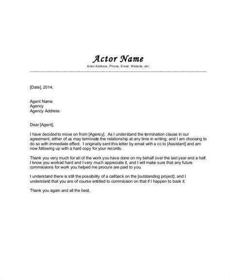 Agency Agreement Letter Format Agreement Letter Exles