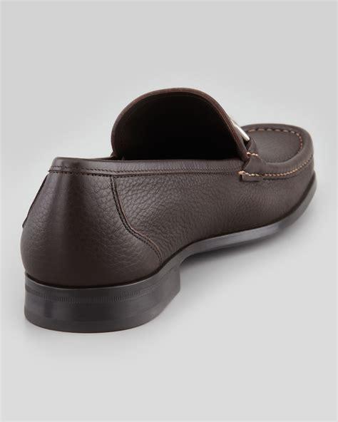 ferragamo magnifico loafer sale ferragamo magnifico gancini loafer in brown for lyst