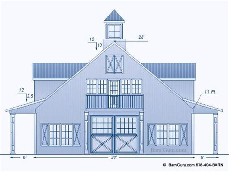 One Bedroom Living Quarters Barn Plans With Living Quarters 5 Stalls 3