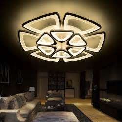Living Room Led Ceiling Lights Aliexpress Buy Acrylic Modern Led Ceiling Chandelier Lights For Living Room Bedroom
