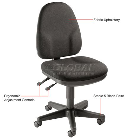 global industrial office chairs chairs fabric upholstered multifunction office chair