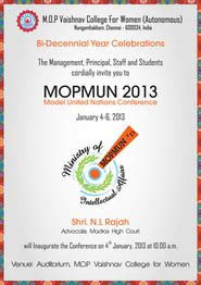 Un Conference Invitation Letter Mopmun 2013 Home