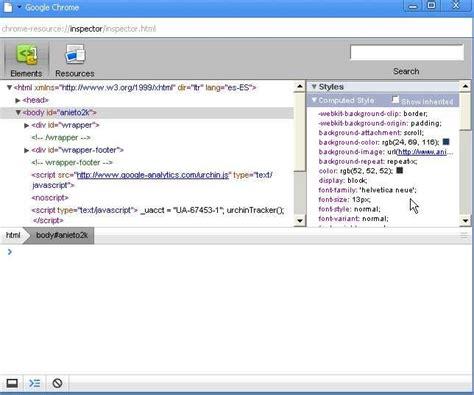 chrome javascript console probando google chrome el navegador de google anieto2k