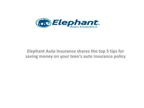 Elephant Auto Insurance shares the top 5 tips for saving