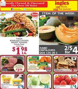 ingles weekly ad march    jumbo cantaloupes