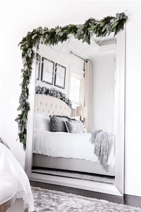 diy mirror christmas garland domestically blissful