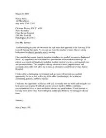 how to write a cover letter for nursing sle nursing cover letter sle cover letters