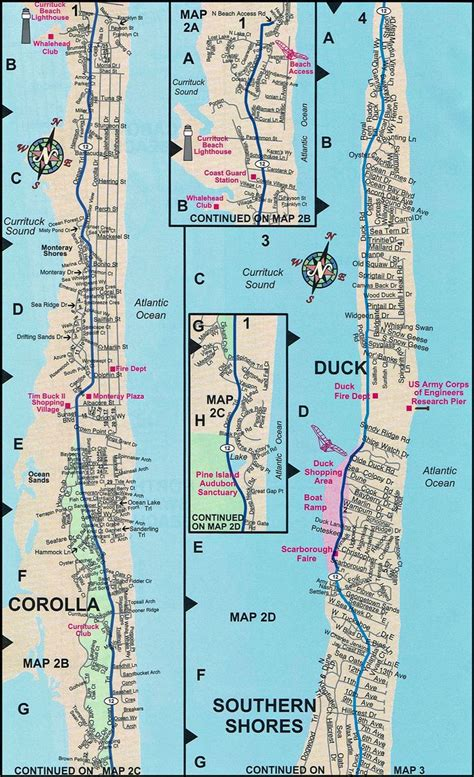 obx map duck map duck nc map outer banks maps