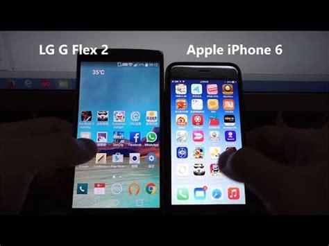 lg g flex 2 vs apple iphone 6