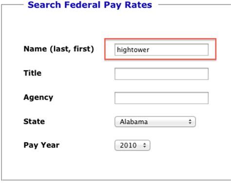 Search By Last Name Finding An Individual Federal Employee S Name And Salary Fedsmith