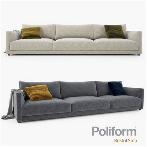 big sofa mömax poliform bristol three seater sofa 3d model cgtrader