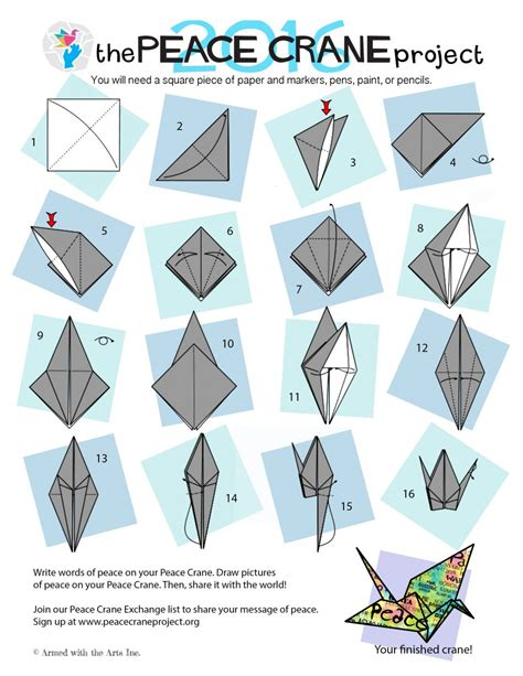 How To Make An Origami Peace Crane - origami doodlecraft origami flapping paper crane mobile