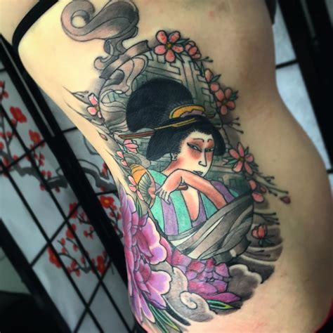 girl japanese tattoo designs 70 colorful japanese geisha tattoos meanings and