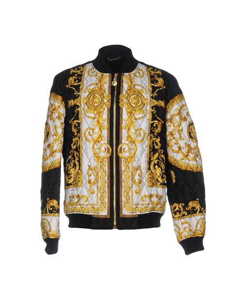 lyst versace jacket in white for