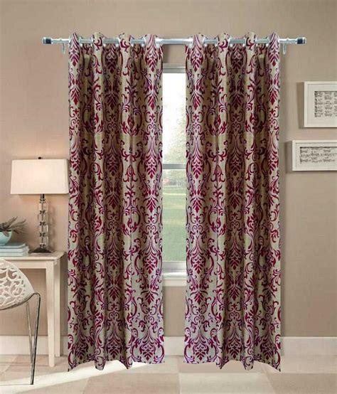 curtains india homefab india multicolour polyester window curtain buy