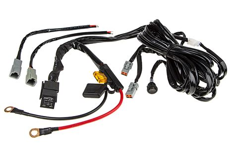 led light wiring harness with switch and relay dual