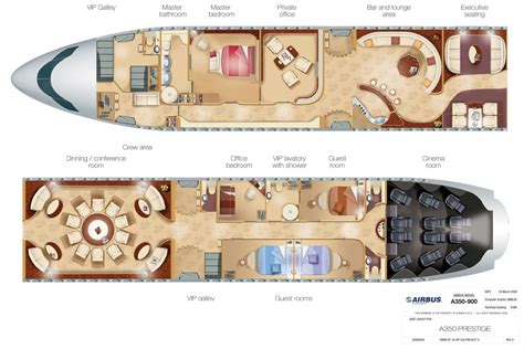 Private Jet Floor Plans | airbus a350 xwb prestige private vip jet cabin layout
