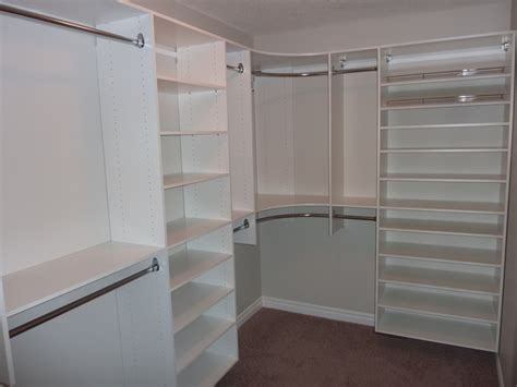 Bedroom Closet Shelving Master Bedroom Closet With Shoe Shelving On Right Modern