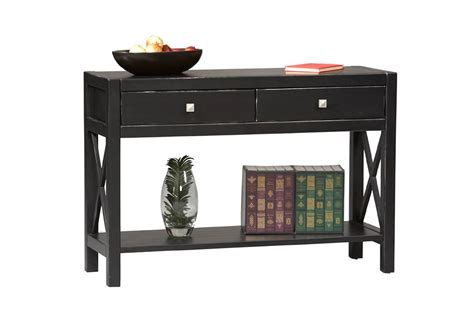 contemporary sofa table black anna antique black finish contemporary console table