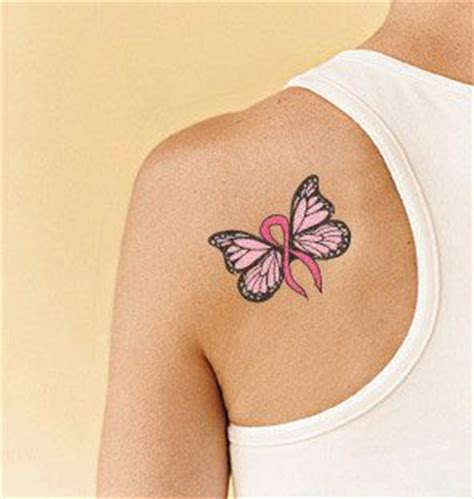 breast cancer butterfly tattoo designs breast cancer cancer and cancer tattoos on