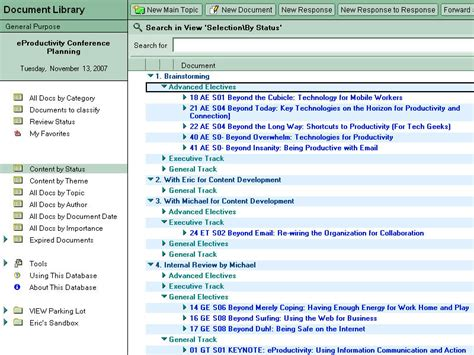lotus notes journal notes on productivity getting things done with ibm