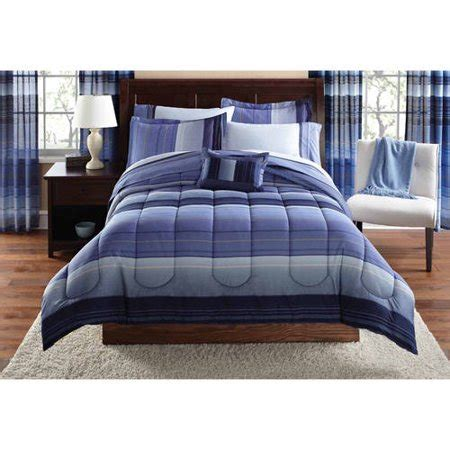 queen mainstays urban stripe bed in a bag coordinated bedding set mainstays ombre coordinated bedding set with bedskirt bed in a bag walmart