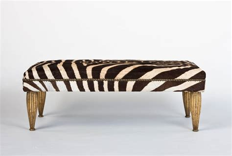 golds bench zebra bench with gold leaf for sale at 1stdibs